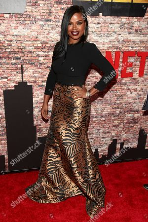"Ninja Devoe attends the Netflix's original series premiere of Marvel's ""Luke Cage"" at the AMC Magic Johnson Harlem 9 Theater, in New York"