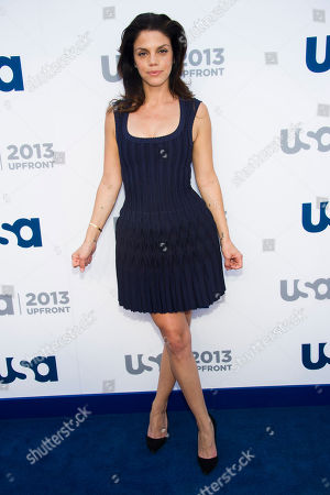 Vanessa Ferlito attends the USA Network Upfront on in New York