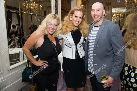 Stock Image of Ariane Von Kamp, left, Jennifer McGrath and Todd Broder attend Networking Night Out NYC presented by the Television Academy for its NY-based members at the St. Regis Hotel on in New York