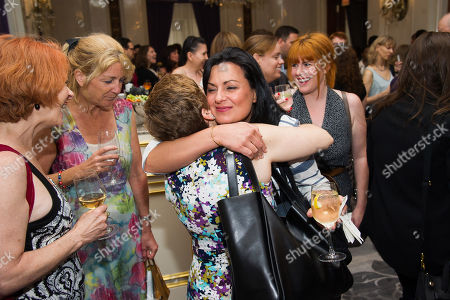 JC Sullivan, left, Inga Thrasher, Jodi Mancuso and Jennifer Serio attend Networking Night Out NYC presented by the Television Academy for its NY-based members at the St. Regis Hotel on in New York