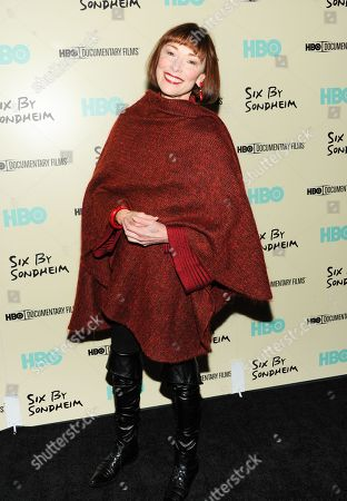 """Stock Picture of Actress Karen Akers attends the premiere of HBO's """"Six By Sondheim"""" at the Museum of Modern Art on in New York"""