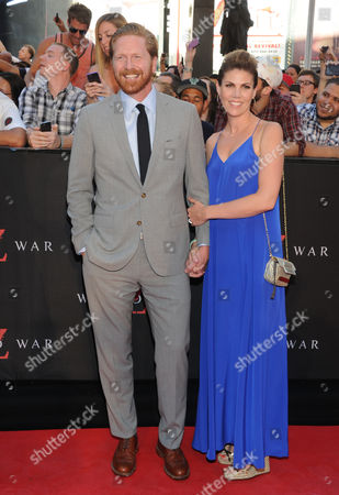 """Screenwriter Matthew Michael Carnahan and guest attend the premiere of """"World War Z"""" in Times Square on in New York"""