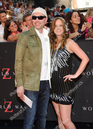 "Stock Picture of Angelina Jolie's brother James Haven and his girlfriend Ashley Reign attend the premiere of ""World War Z"" in Times Square on in New York"