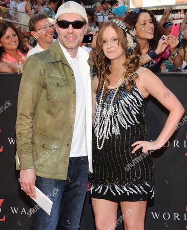 "Stock Photo of Angelina Jolie's brother James Haven and his girlfriend Ashley Reign attend the premiere of ""World War Z"" in Times Square on in New York"