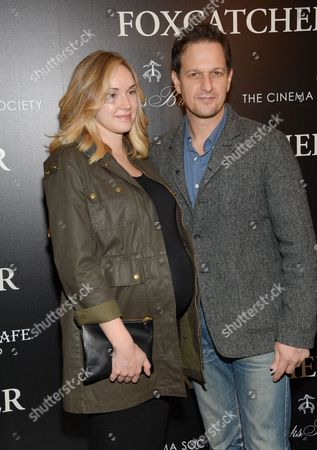 """Actor Josh Charles and wife Sophie Flack attend a special screening of """"Foxcatcher"""", hosted by the Cinema Society with Details and Brooks Brothers, at The Museum of Modern Art, in New York"""