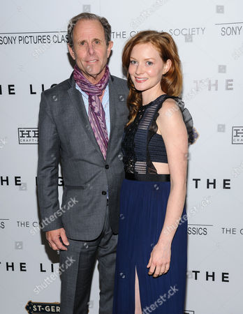 """Marc Abraham and Wrenn Schmidt attend a special screening of """"I Saw The Light"""" at Metrograph, in New York"""