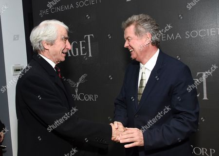 "Actor Sam Waterston, left, and director John Madden attend a special screening of ""Miss Sloane,"" hosted by The Cinema Society and Piaget, at the SAG-AFTRA Foundation, in New York"