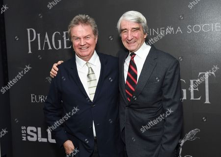 "Director John Madden, left, and actor Sam Waterston attend a special screening of ""Miss Sloane"", hosted by The Cinema Society and Piaget, at the SAG-AFTRA Foundation, in New York"