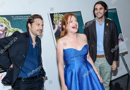 """Actor Kentucker Audley, from left, actress Elisabeth Moss and director Alex Ross Perry attend the special screening of """"Queen of Earth"""" at The Museum of Modern Art, in New York"""