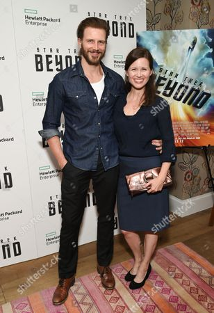 """Bill Heck and Maggie Lacey attend a special screening of """"Star Trek Beyond"""" at the Crosby Street Hotel, in New York"""