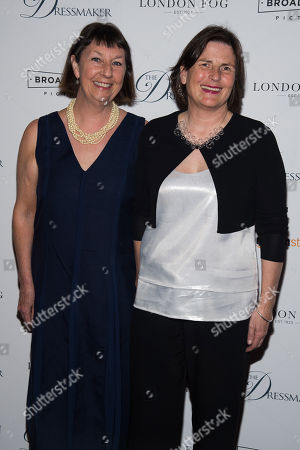 """Stock Picture of Rosalie Ham, left, and Sue Maslin attend a screening of """"The Dressmaker"""" at Florence Gould Hall Theater, in New York"""