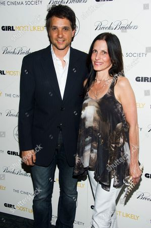 """Stock Photo of Ralph Macchio and Phyllis Fierro attend a screening of Lionsgate & Roadside Attractions' """"Girl Most Likely"""" hosted by the Cinema Society & Brooks Brothers on in New York"""