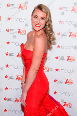 Alexa Pena Vega attends the Macy's Red Dress Event at Skylight at Moynihan Station, in New York