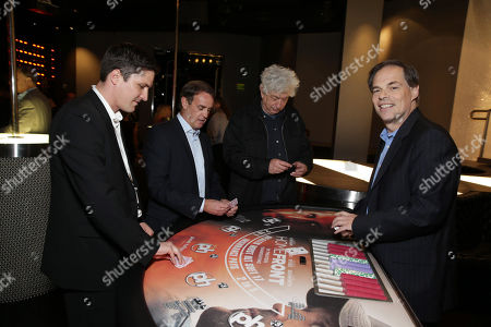 Stock Picture of Open Road's Ben Cotner, Producer Kevin King Templeton, Executive Producer Avi Lerner and Open Road's Tom Ortenberg seen at Open Road 'Homefront' Premiere, on in Las Vegas