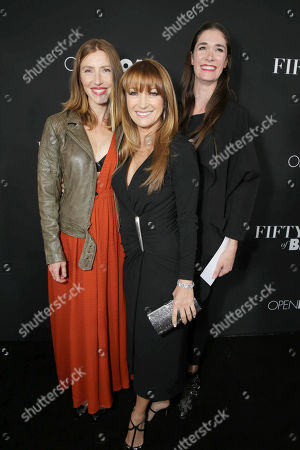 Katherine Flynn, Jane Seymour and Jenni Flynn seen at Open Road Films Premiere of 'Fifty Shades of Black' at Regal L.A. Live, in Los Angeles, CA
