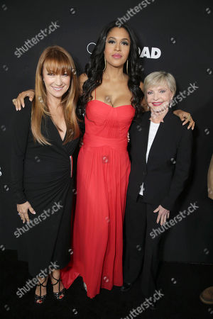 Jane Seymour, Kali Hawk and Florence Henderson seen at Open Road Films Premiere of 'Fifty Shades of Black' at Regal L.A. Live, in Los Angeles, CA