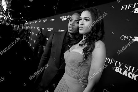 Writer/Producer/Actor Marlon Wayans and Kali Hawk seen at Open Road Films Premiere of 'Fifty Shades of Black' at Regal L.A. Live, in Los Angeles, CA