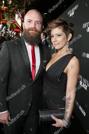 Director/Producer Michael Tiddes and Kelly Tiddes seen at Open Road Films Premiere of 'Fifty Shades of Black' at Regal L.A. Live, in Los Angeles, CA