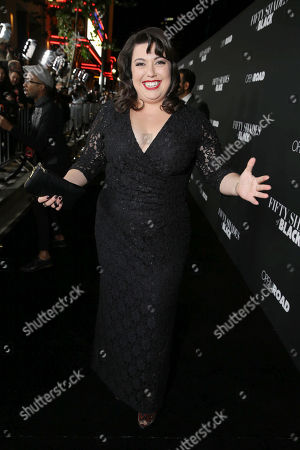 Jenny Zigrino seen at Open Road Films Premiere of 'Fifty Shades of Black' at Regal L.A. Live, in Los Angeles, CA