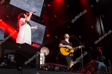 Stock Photo of Kari Jobe performs during the Outcry Tour 2015 at Verizon Wireless Amphitheatre, in Atlanta