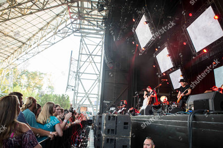 Kari Jobe performs during the Outcry Tour 2015 at Verizon Wireless Amphitheatre, in Atlanta