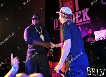 "Rob Dyrdek, right, and Gucci Mane onstage at PacSun and DC Shoes ""Golden State of Mind"" event held at Rob Dyrdek's Fantasy Factory on in Los Angeles"