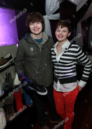 Brendan Meyer and Joey King seen at Park City Live Daytime Lounge, on in Park City, Utah