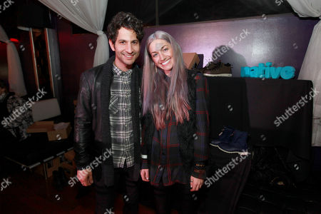 Jason Rosen, left, and Gabrielle Wortman are seen at PCL Day Lounge Day 2 on in Park City, Utah