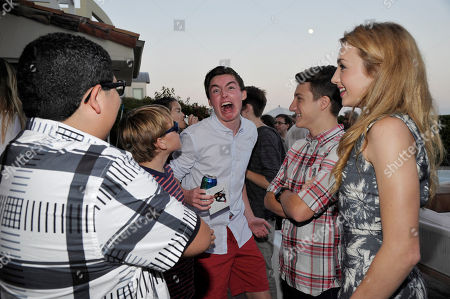 Rico Rodriguez, Spencer List, Jake Short and Peyton List seen at Peyton List Hosts a Private Party at the Infinity Audio Beach House, in Malibu, Calif