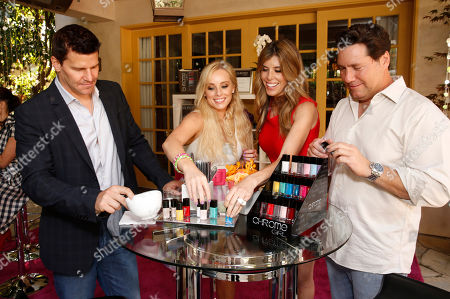 Chrome Creators David Boreanaz, Jaime Boreanaz, Melissa Ravo and Aaron Ravo attend the Polish Play and emPower Chrome Girl Nail Lacquer Debut on in Los Angeles