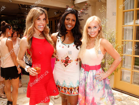 Melissa Ravo, Omarosa Manigault and Jaime Boreanaz attend the Polish Play and emPower Chrome Girl Nail Lacquer Debut on in Los Angeles