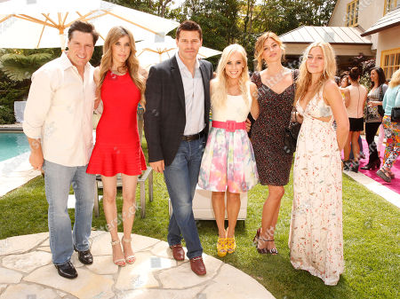 Chrome Creators Aaron Ravo, Melissa Ravo, David Boreanaz, Jaime Boreanaz with Aly Michalka and AJ Michalka at the Polish Play and emPower Chrome Girl Nail Lacquer Debut on in Los Angeles