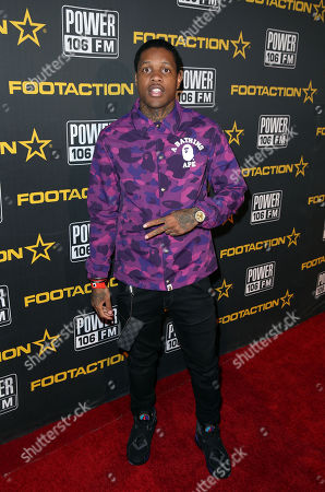 Lil Durk arrives at Power 106's Cali Christmas concert presented by Footaction on at The Forum in Los Angeles, CA. Cali Christmas is part one of Footaction's East Coast/West Coast holiday takeover in which the national lifestyle apparel and footwear retailer is bringing the gift of music and style to its fans on both coasts. The second leg of the holiday concert takeover will take place on December 5, 2015 with Busta Rhymes & Friends Hot for the Holidays concert in Newark, New Jersey