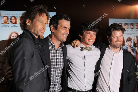 "Stock Picture of David Duchovny, Ty Burrell, Graham Phillips and Christopher Neil attend the premiere of ""Goats"" at The Landmark Theater on in Los Angeles"