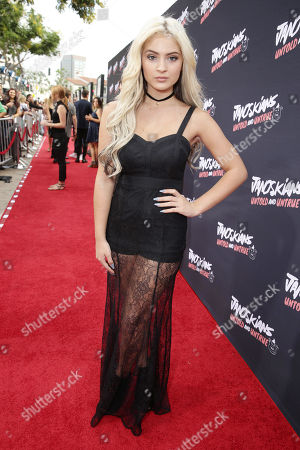 Carrington Durham attends the Los Angeles premiere of Awesomeness Filmâ?™s JANOSKIANS: UNTOLD AND UNTRUE at Bruin Theatre, in Los Angeles, CA