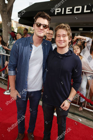Stock Photo of Tyler Case and Michael Taber attend the Los Angeles premiere of Awesomeness Film's JANOSKIANS: UNTOLD AND UNTRUE at Bruin Theatre, in Los Angeles, CA
