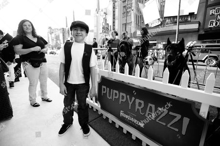DISNEY: Actor Atticus Shaffer arrives at the premiere of Disney's stop-motion animated full length black and white film 'Frankenweenie' directed by Tim Burton, in Los Angeles