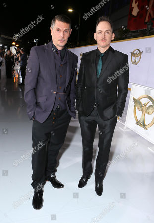 "Stock Image of Costume designers Kurt Swanson and Bart Mueller seen at the Los Angeles Premiere of Lionsgate's ""The Hunger Games: Mockingjay - Part 1"" held at Nokia Theater L.A. Live, in Los Angeles"