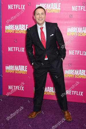"""Mike Carlsen attends the premiere of Netflix's """"Unbreakable Kimmy Schmidt"""" Season 2 at the SVA Theatre, in New York"""