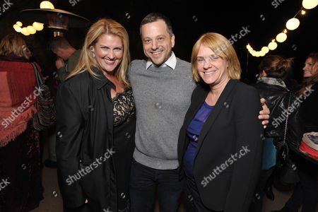 "From left, executive producer Bridget Carpenter, creator/writer/co-executive producer Aaron Guzikowski and executive producer Sarah Condon attend the premiere screening of SundanceTV's ""The Red Road"", on in Los Angeles"