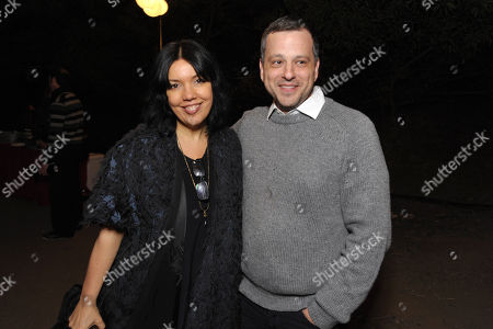 "Stock Photo of Sarah Barnett, left, and creator/writer/co-executive producer Aaron Guzikowski attend the premiere screening of SundanceTV's ""The Red Road"", on in Los Angeles"