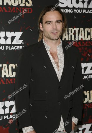 "Actor Dustin Clare attends the ""Spartacus: War of the Damned"" premiere, at the Musuem of Modern Art on in New York"