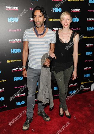 "Carlos Leon and Bettina Holt attend a special screening of ""Pussy Riot: A Punk Prayer"" hosted by HBO with The Cinema Society on in New York"