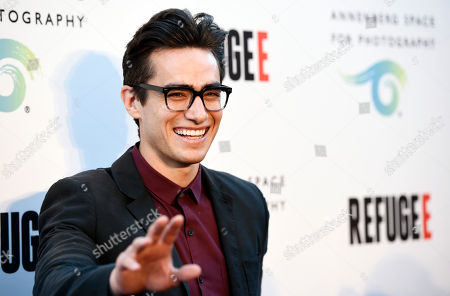 """Actor Jose Moreno Brooks poses at the opening of the new photography exhibit """"REFUGEE"""" at The Annenberg Space for Photography, in Los Angeles"""