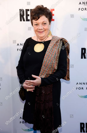 """Photographer Graciela Iturbide poses at the opening of the new photography exhibit """"REFUGEE"""" at The Annenberg Space for Photography, in Los Angeles"""