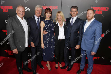 Stock Picture of Bill Smitrovich, Director Roger Donaldson, Olga Kurylenko, Producer Beau St. Clair, Pierce Brosnan and Relativity Media CEO Ryan Kavanaugh seen at The World Premiere of 'The November Man'on at the TCL Chinese Theatre in Los Angeles