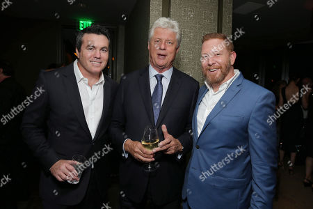Stock Photo of EXCLUSIVE Relativity Media President Tucker Tooley, Director Roger Donaldson and Relativity Media CEO Ryan Kavanaugh seen at The World Premiere of 'The November Man'on in Los Angeles
