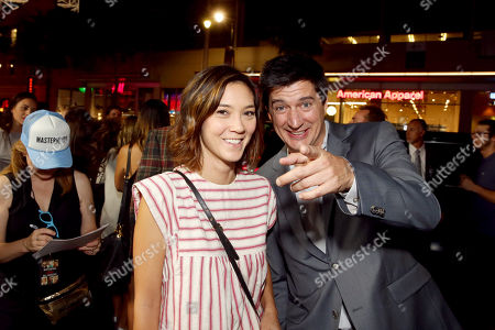 """Erica Oyama and Ken Marino seen at Relativity Studios Presents """"Masterminds"""" Los Angeles Premiere at TCL Chinese Theatre, in Hollywood"""
