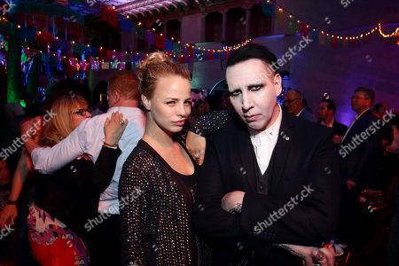 """Jessica Roffey and Marilyn Manson seen at Relativity Studios Presents """"Masterminds"""" Los Angeles Premiere at TCL Chinese Theatre, in Hollywood"""
