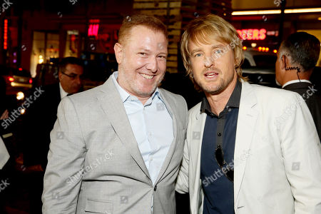 """Ryan Kavanaugh, CEO of Relativity Media, and Owen Wilson seen at Relativity Studios Presents """"Masterminds"""" Los Angeles Premiere at TCL Chinese Theatre, in Hollywood"""